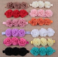 Factory price! new baby girls children chiffon flower elastic headwear headbands hairband for hair accessories
