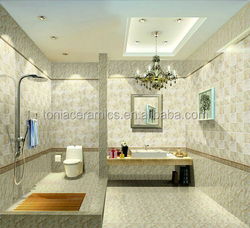 Foshan 300 600 3d inkjet bathroom tiles kitchen sets for Bathroom designs sri lanka