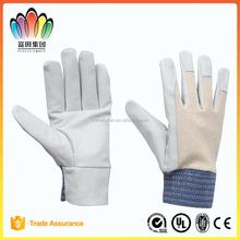 White Cow Grain Palm Split Back Driver Gloves