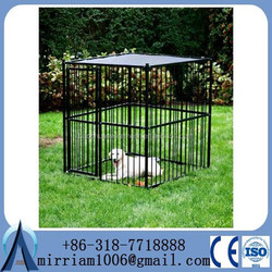 China wholesale steel bar dog cage / dog kennel cage stainless steel
