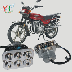 Electric Motorcycle square Without glass Motorcycle headlamp