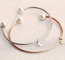 2015 New arrival fashion jewelry, rose gold stainless steel bangles jewelry