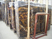 hot sale Black and Gold Afghanistan Golden Portoro Marble Stone