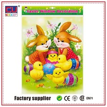 Easter professional OEM glass window sticker BEST PRICE
