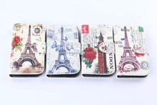 Eiffel Tower Book Flip Wallet Leather Case Cover for Samsung Galaxy S4 Mini i9190 Case