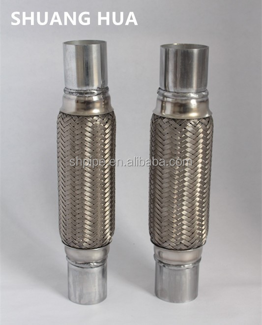 Stainless steel auto exhaust flexible pipe with joints