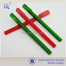 Promotional Plastic Transparent Triangular Ballpoint Pen