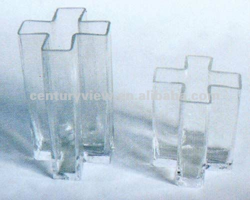 cross shaped clear glass vases for flower arrangements
