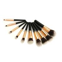 facial nylon mask brush set 10pcs powder dispenser brush