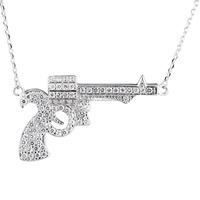 Fashion Fancy Gun Design Men Necklace Sterling Silver Jewelry Wholesale Hot Sale