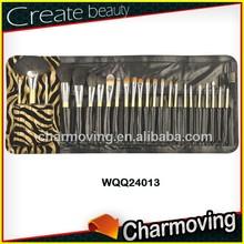 24 Pcs Hot Sale Professional Makeup Brush Set Brand Cosmetic Kits With Bag