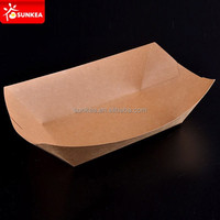 Kraft paper food tray for camping