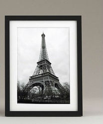 STERLING HOME WOOD PICTURE FRAME BLACK & SILVER PHOTO