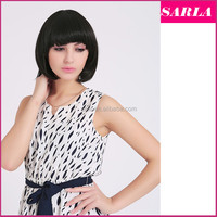 Wholesale Natural Sexy Hair Wig BOBO Head Style Straight Bang Synthetic Short Wigs Women Ladies Gift Items