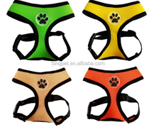 Free Shipping printing paw soft cloth reflective and protective pattern dog harness or dog vest