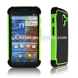 Good quality 3 in 1 pc silicone case for motorola moto x hybrid phone case