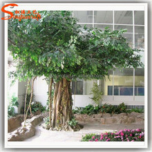 Artificial architectural model tree of ficus tree with white ficus leaf tree artificial plants of leaves