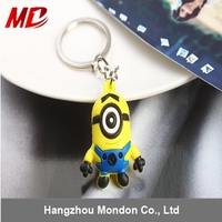 3D cheap custom made silicone keychain For Promation