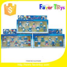 2.5 pulgadas Smurfs juguete juguetes promocionales para los niños