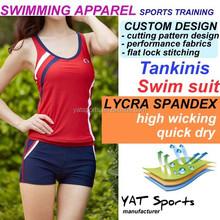 Custom tankini swimwear apparel water sports cheap mature women swimsuit tankini,