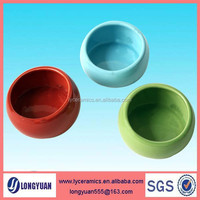 Direct supplier wholesale ceramic dog feeder bowl with color glaze