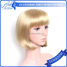 Heat resistant synthetic hair bob wig halloween party wigs, short hot pink wig, short hair wig men and women
