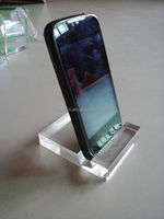 Clear Acrylic Simple and elegant Mobile cell phone display stand holder