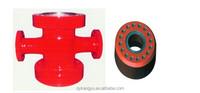 API Spec Drilling spool, flanged cross, sideways cross