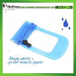 Hot new products for 2015 outdoor transparent available eco-friendly PVC mobile waterproof cell phone bag for all samrtphones