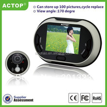 Shenzhen ACTOP 3.5 inch TFT color display screen digital peephole viewer work with 3pcs AA battery