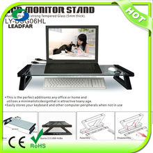 Convenient glass practical desktop computer shelf with USB hub