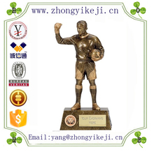 factory custom-made handmade carved fashion resin soccer trophies cup