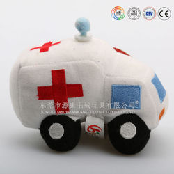 China ICTI plush toys factory stuffed toys manufacture toy ambulance