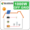 Bluesun good price 1000w home solar panel kit for house