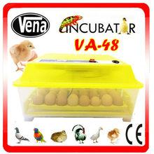 Incubadora de las aves de corral de mini automático aves para huevos temperatura precios incubadoras controlado VA-48