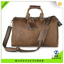 Current online market good men brand top leather travel handbag