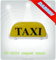 12V White Yellow Orange Magnetic Taxi Roof Box Light Top Light Sign