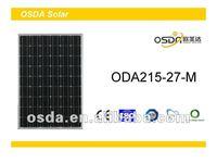 215W mono solar panel price solar panel