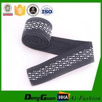 Customized Printed Black Knitted Elastic Headband