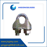 high quality malleable cast DIN1142 wire rope cross clamp