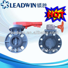 Double Flange Rubber Line Butterfly Valve With High Quality
