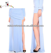 2014 Taffeta Left Opening Vifrification Puffy Long Skirt New Design Skirt