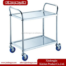 PRC-L2 New 3 tier stainless steel kitchen dining trolley serving utility cart