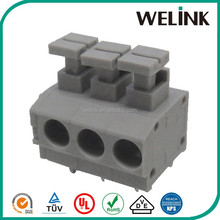 5mm spring wire push connector screwless cable terminal block