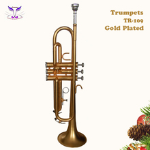 Standard gold plated trumpets for sale online from China