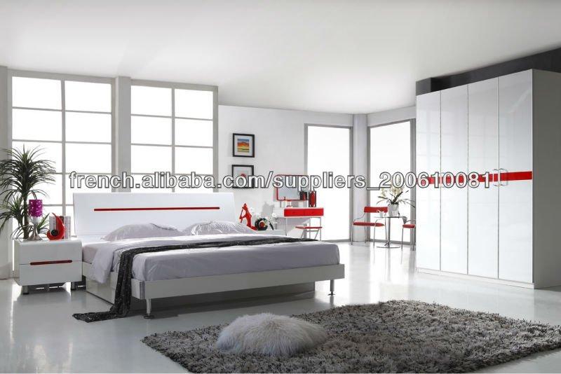 Peinture haute brillance pour l 39 ensemble de chambre coucher adultes lots de literie id du for Peinture chambre a coucher adulte