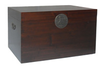 Antique reproduction furniture trunk LWF045