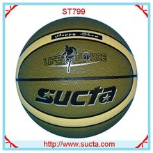 Happy show synthetic leather basketball ball ST799