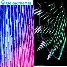 Professional cheap price IP65 led full rgb color dmx 24v digital tube 8/12/16/24/32pixel dmx smd5050 led meteor tube lighting