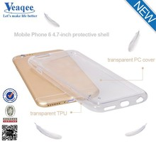 Veaqee wholesale crystal clear transparent soft silicone TPU case for iPhone 6